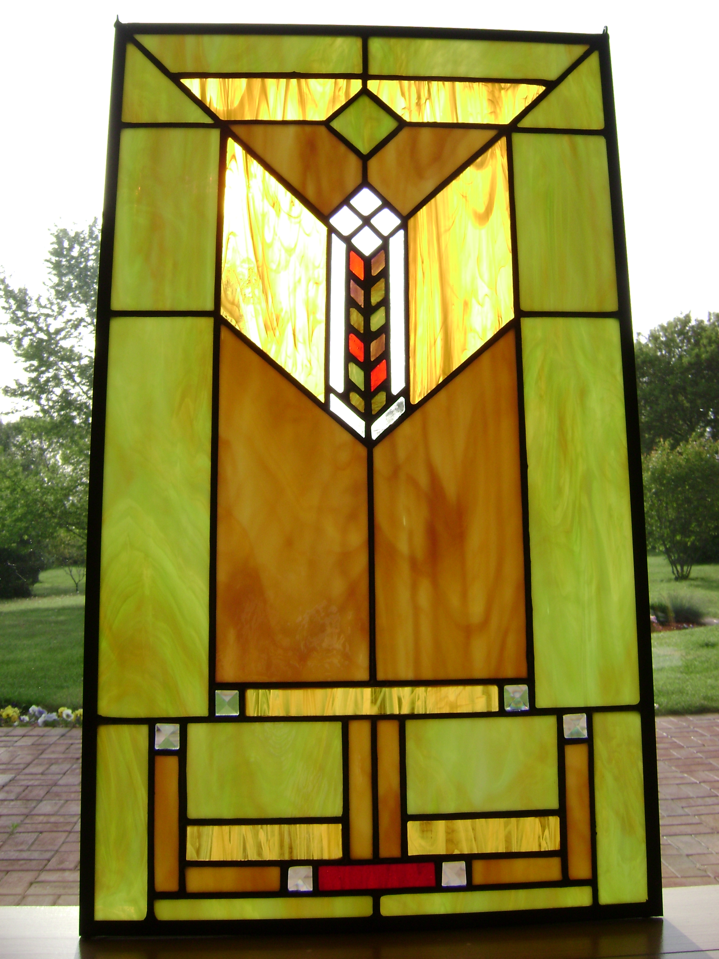 Prairie Window Water 39 S Edge Stained Glass